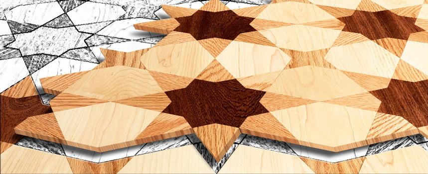 آموزش ترسیم و ساخت گره چینی چوب