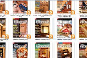 مجموعه مجلات نجاری Canadian Woodworking از سال ۲۰۰۰ تا ۲۰۱۶