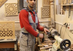 خراطی چوب با استاد امیر خلیلی