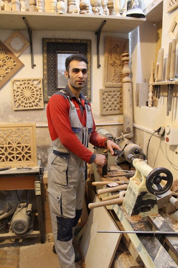 فیلم خراطی چوب با استاد امیر خلیلی