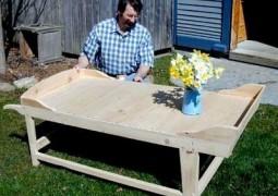 فیلم آموزش ساخت میز قهوه خوری با ذخیره سازی گلدان در گوشه ها