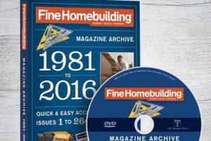 مجموعه مجلات آمورشی نجاری و معماری با چوبFine Home building از سال ۱۹۸۱تا ۲۰۱۶