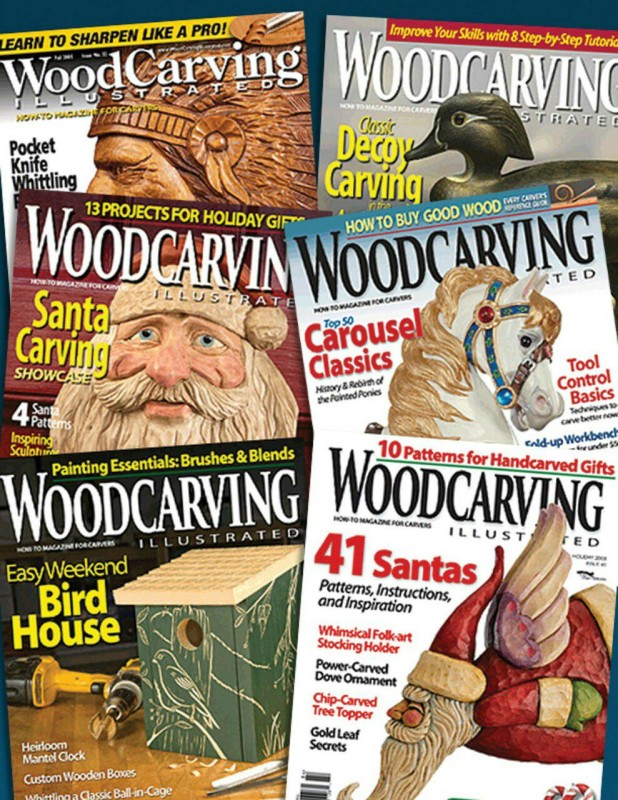 مجموعه کامل مجلات آموزش پیکرتراشی چوب
